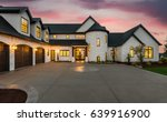 beautiful luxury home exterior... | Shutterstock . vector #639916900