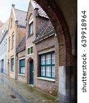quaint building facade viewed...   Shutterstock . vector #639918964