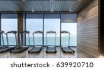 Gym With Sea View   3d Rendering