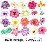 flower set | Shutterstock . vector #639923734