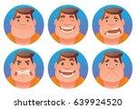 vector set of round blue frames ... | Shutterstock .eps vector #639924520