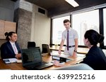 businesspeople with leader... | Shutterstock . vector #639925216