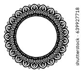 mandalas for coloring book.... | Shutterstock .eps vector #639927718
