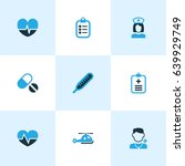 antibiotic colorful icons set.... | Shutterstock .eps vector #639929749