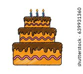 birthday cake icon | Shutterstock .eps vector #639931360