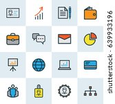job colorful outline icons set. ... | Shutterstock .eps vector #639933196