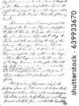 Vintage Handwriting Template....