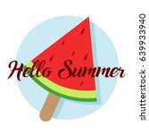 hello summer circle icon and... | Shutterstock .eps vector #639933940