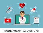 health care online consultation ... | Shutterstock .eps vector #639933970