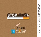world no tobacco day may 31 | Shutterstock .eps vector #639934360