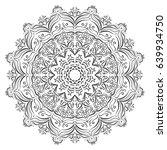 flower mandala. vintage... | Shutterstock .eps vector #639934750