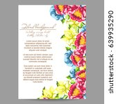 vintage delicate invitation... | Shutterstock . vector #639935290