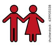 pictogram couple icon | Shutterstock .eps vector #639935338