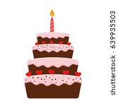 birthday cake icon | Shutterstock .eps vector #639935503