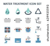 water treatment plant and... | Shutterstock .eps vector #639935593