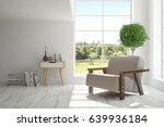 white room with armchair and... | Shutterstock . vector #639936184