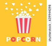 popcorn popping. red yellow... | Shutterstock . vector #639944098