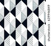memphis trendy seamless pattern ... | Shutterstock .eps vector #639946849