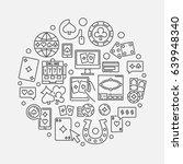 online casino linear... | Shutterstock .eps vector #639948340