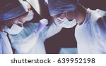 team surgeon at work in... | Shutterstock . vector #639952198