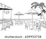beach cafe bar graphic black... | Shutterstock .eps vector #639953728