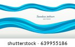 marine pattern with stylized... | Shutterstock .eps vector #639955186