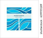 set stylized blue waves on a... | Shutterstock .eps vector #639955189