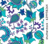 seamless pattern with fantasy... | Shutterstock .eps vector #639958264
