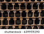 Railway Ties In Piles For The...