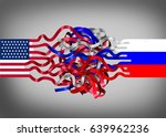 russia united states crisis as... | Shutterstock . vector #639962236