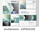 social media posts set.... | Shutterstock .eps vector #639963100
