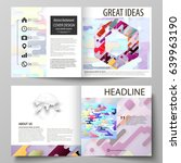 business templates for square... | Shutterstock .eps vector #639963190