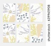 abstract underwater seaweed...   Shutterstock .eps vector #639965908