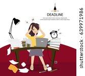 office women work hard and... | Shutterstock .eps vector #639971986