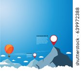 balloon over the cloud with... | Shutterstock .eps vector #639972388