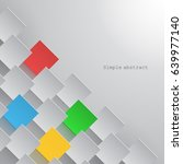 paper squares are arranged in a ... | Shutterstock .eps vector #639977140