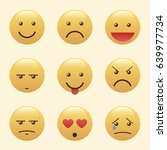 set of emoticons  icon pack ... | Shutterstock .eps vector #639977734