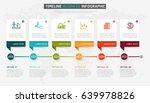 timeline infographic design... | Shutterstock .eps vector #639978826