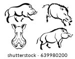 set of black vector images of... | Shutterstock .eps vector #639980200