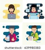 web development and programming ... | Shutterstock .eps vector #639980383