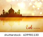 happy eid wallpaper design... | Shutterstock .eps vector #639981130
