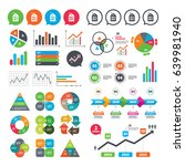 business charts. growth graph.... | Shutterstock .eps vector #639981940