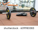 gym barbell | Shutterstock . vector #639983383