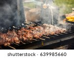 Delicious Bbq Kebab Grilling O...