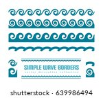 Set Of Simple Wavy Borders On...