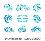 vector wave icons  set of... | Shutterstock .eps vector #639986500