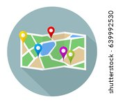 map pins sign location icon... | Shutterstock .eps vector #639992530