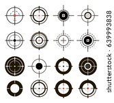 a set of sights  sniper... | Shutterstock .eps vector #639993838