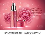 luxury cosmetic bottle package... | Shutterstock .eps vector #639993940