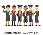 vector graduation concept with... | Shutterstock .eps vector #639994144